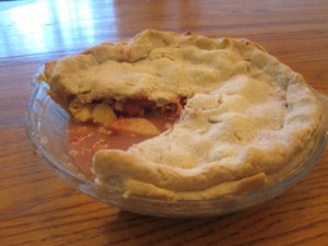 strawberry-apple pie